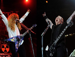 Megadeth vs Metallica in the Metal Meltdown