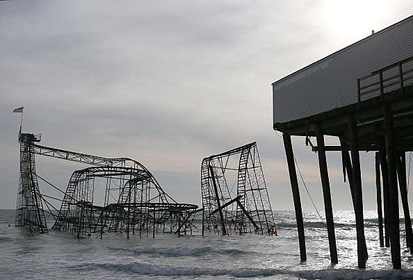 Jet Star Coaster, Seaside Heights, Superstorm Sandy