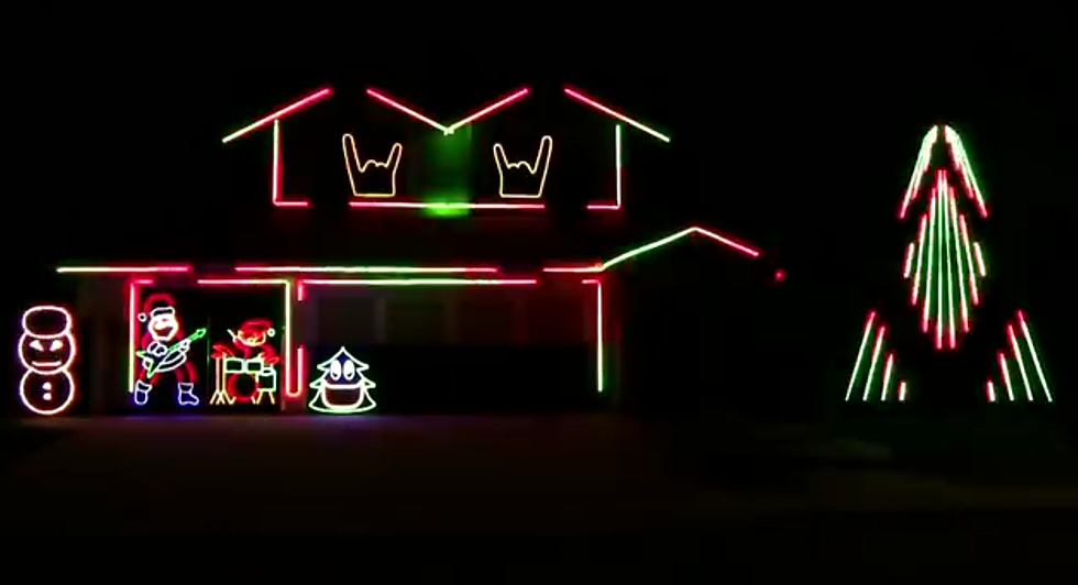 slayer bob reveals new heavy metal christmas light displays with slipknot and disturbed - Heavy Metal Christmas Decorations