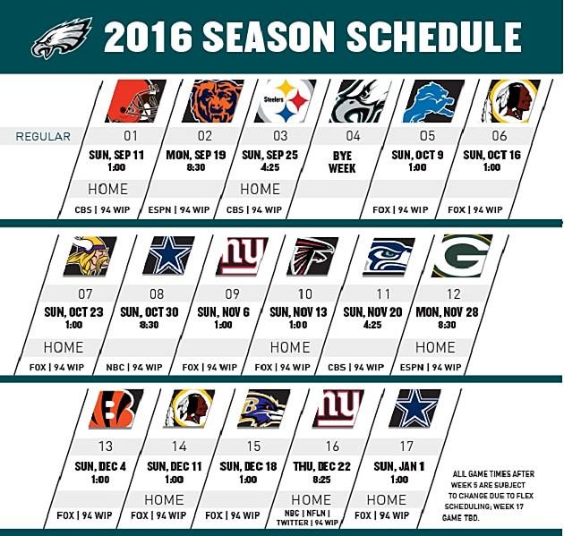 Image Result For Philadelphia Eagles Season Schedule