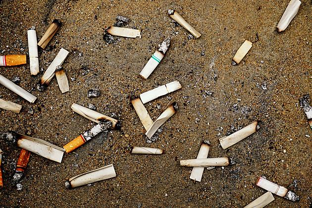 cigarettes on sand