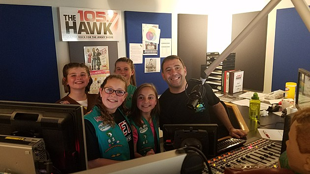 Girl Scout Troop 63 visits the Studio