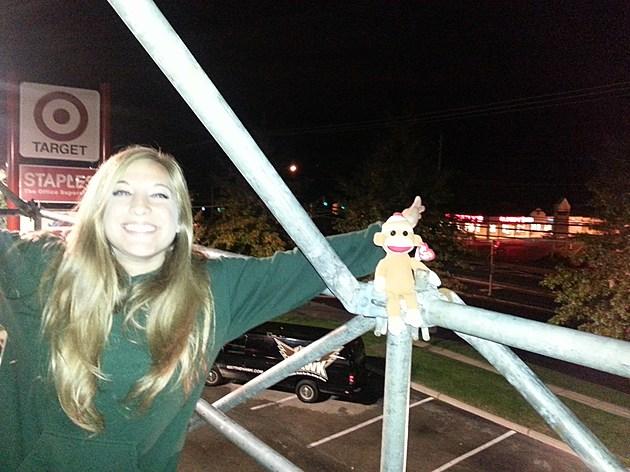 Hawk Honey Rachael Hanging on the Billboard